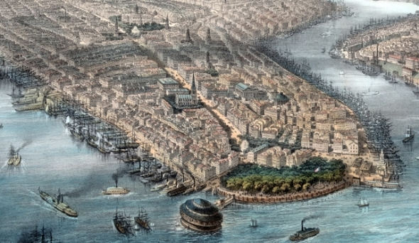 New York in the 1850s and a long way from Worcester. Was this the New York that greeted the Moorbys?