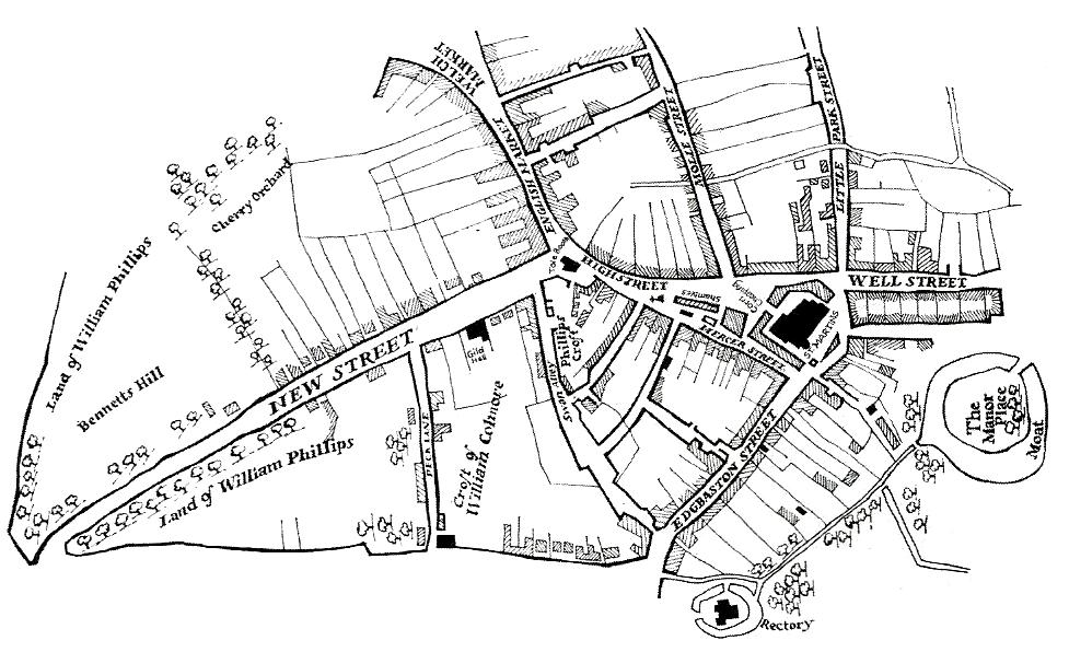History sarahhayes by 1553 the tudor town had spread down new street and towards the priory lands of malvernweather Choice Image