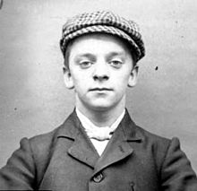 © Wikipedia. Harry Fowles, aka 'Baby Face' was part of the Peaky Blinders of the 1890s. Although they weren't in anyway involved in the coffin furniture disputes, no doubt similar 'groups' operated to enforce the Alliance's dealings.